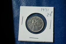 A-200 1971 Canada 25 Cents quarter Queen Elizabeth II