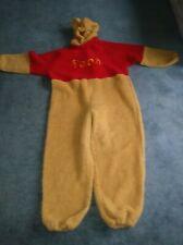 Adult Disney Store Fake Fur Winnie the Pooh Halloween Costume Size Small