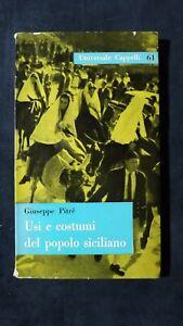 Giuseppe Pitrè: Usi e costumi del popolo siciliano Cappelli, 1961