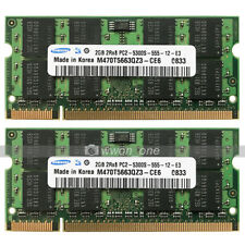 New Samsung 4GB 2X2GB PC2-5300S DDR2-667MHz CL5 SODIMM Non-Ecc Laptop Memory RAM