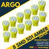24v Side Light 507 501 W5W 8 SMD Led Amber Hella Spot Capless Bulbs HGV Truck