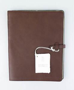 New BRUNELLO CUCINELLI Bole Brown Leather Ipad Case $1005
