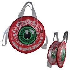 New Purse Gothic Horror Red Green Eyeball Creepy Transparent Bag Punk Christmas