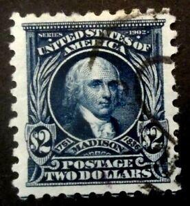 Buffalo Stamps:  Scott #479, $2 Madison, XF-Jumbo - Reg Cancel, CV = $120 as XF