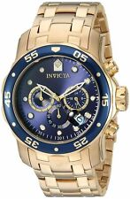 Invicta Mens Pro Diver Collection Chronograph 18k Gold-Plated Watch W/ Link