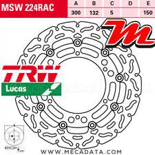 Disque de frein Avant TRW Lucas MSW 224 RAC Hyosung GV 700 (GVC) 2006+