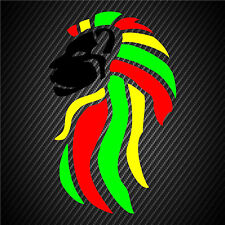 Rasta Sticker Decal Reggae Lion Of Judah Black Face Beach Tropical Island