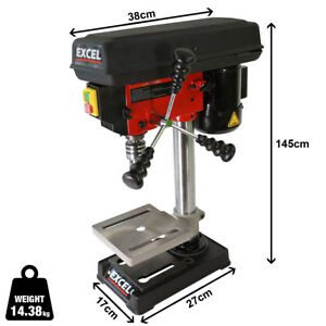 New Heavy Duty 300W 13mm Rotary Pillar Drill 5 Speed Press Drilling Bench Press