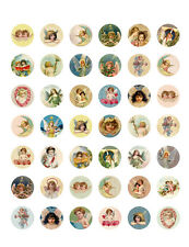 Vintage/ Antique Angels & Cherubs PRINTABLE Bottle Cap Images ~ 42 Diff. Designs