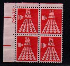 ALLY'S STAMPS US Plate Block Scott #C72 10c Fifty Star Runway [4] MNH F/VF STK