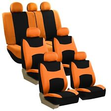 3 Row Light Breezy Flat Cloth Seat Covers Full Set 7 Seaters Universal Fit