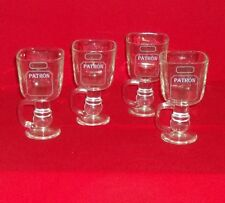 Set of 4 PATRON Bee Footed Square Mugs / Glassed / Goblets - New