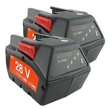 2PACK For MILWAUKEE 28V M28 V28 Power Tool Battery 48-11-2830 2.0Ah w/ LED Gauge