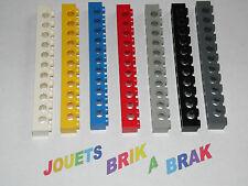 Lego briques brick poutres technic 1x12 ou 12x1 choose color ref 3895