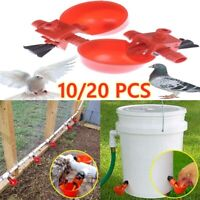 10/20 PC Poultry Water Drinking Cups Chicken Hen Quail Plastic Automatic Drinker