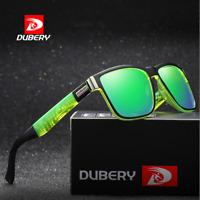 DUBERY Mens Polarized Sport Sunglasses Driving Green Lenses Coating Glasses New