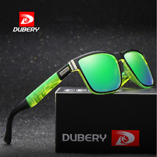 DUBERY Mens Polarized Sport Sunglasses Riding Fishing Green Lenses Glasses Hot