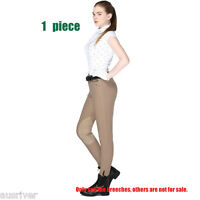 Horse Riding Pants Ladies Soft Strech Jodhpurs Breeches Elastic Euro Size 26-38