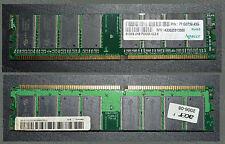 UNE BARRETTE DE MÉMOIRE DDR SDRAM MARQUE APACER 512MB UNB PC3200 CL 2.5