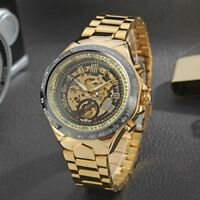 WINNER Men Fashion Automatic Mechanical Skeleton Analog Watch Steel Wristwatch