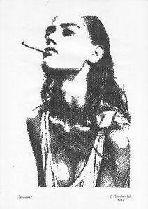 original drawing A3 1StA art modern Ink female portrait hardware technology