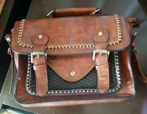 Womens Satchel   handbag / case  with Vintage look