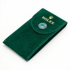 Original ROLEX Service Green Velvet Watch Pouch Travel Storage Protection