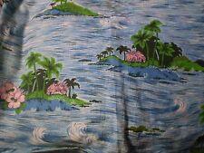 Vintage TROPICAL ISLAND THEMED Fabric (74cm x 84cm)