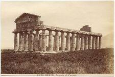 TEMPLE OF CERES, 1881, ATHENA, ARCHAIC DORIC TEMPLE, PAESTUM, ALBUMEN PRINT