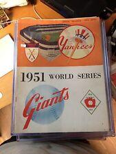 1951 World Series Official Program Yankees VS Giants
