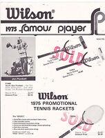 VINTAGE AD SHEET #3171 -  1975 WILSON SPORTING GOOD - JIM PLUNKETT