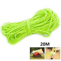 20M Reflective Guyline Tent Rope Guy Line Camping Cord Paracord Glow in the Dark