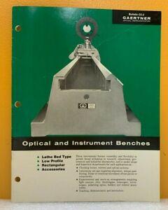 Gaertner Optical and Instrument Benches Bulletin CC-2.