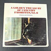 "A Golden Treasury of Concert Favorites Vol 6 Vinyl Record 12"" Inch LP 33 RPM"