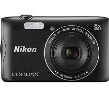 "NIKON COOLPIX A300 20.1MP Compact Camera Black with Bluetooth & 2.7"" Display"
