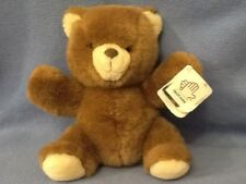 "Vintage 1986 Applause Jesse 9"" Brown Teddy Bear Plush #4660 w/ tag"