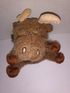 "Walt Disney Store Winnie The Pooh Bear Fuzzy Moose Plush Bean Bag 6"" Tall"