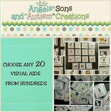 Usted Elige 20 pectorales con Suave Lazo en Espalda-Autismo// ayudas visuales no verbal