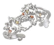 Black Hills Gold Sterling Silver and 12K Gold Horse Cuff Bracelet