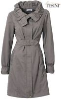 NEU TAUPE! CITY & BUSINESS TRENCHCOAT TRENCH MANTEL 34 LINEA TESINI 120€ *018358
