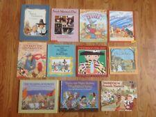 Mixed Teacher Lot of 11 THANKSGIVING THEME Books FICTION & NON-FICTION 2 HC Nice