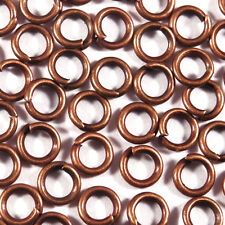 100 pieces connection rings 5mm Metal coppery For jewelery creation