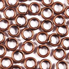 Lot 100 Anneaux de Jonction 5mm Métal cuivré Pour création de bijoux