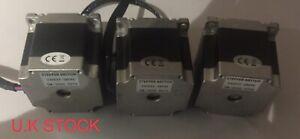 3 X Nema 23 Stepper Motor 1.26Nm 2.8A 57x56mm 6.35mm Shaft 4 Wires CNC 3D Print