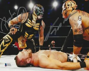 Pentagon Jr & Rey Fenix Signed 8x10 Photo BAS Beckett COA Lucha Impact Wrestling
