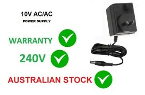 10V 1000MA AC/AC POWER SUPPLY 10 VOLT 1AMP 1A 1-amp WALL ADAPTER 240V AUS 2.1mm