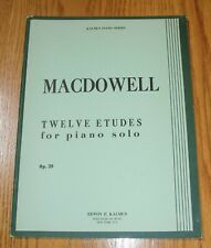 MacDowell Twelve Etudes for Piano Op. 39 (Kalmus Ed)