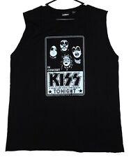 KISS Band 1970's Retro In Concert Muscle T-Shirt Shirt L Winterland UNWORN 2005