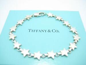 "Tiffany & Co. Sterling Silver Chain Of Stars Bracelet 7.5"" - Box - A"