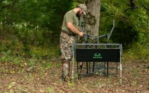 🆕️ Realtree 15 ft Two Man Ladder Stand w/ Primal Grip Jaw System ✔SHOOTING RAIL